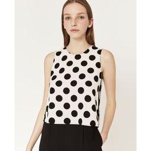 Zara Polka Dot sleeveless top size XS